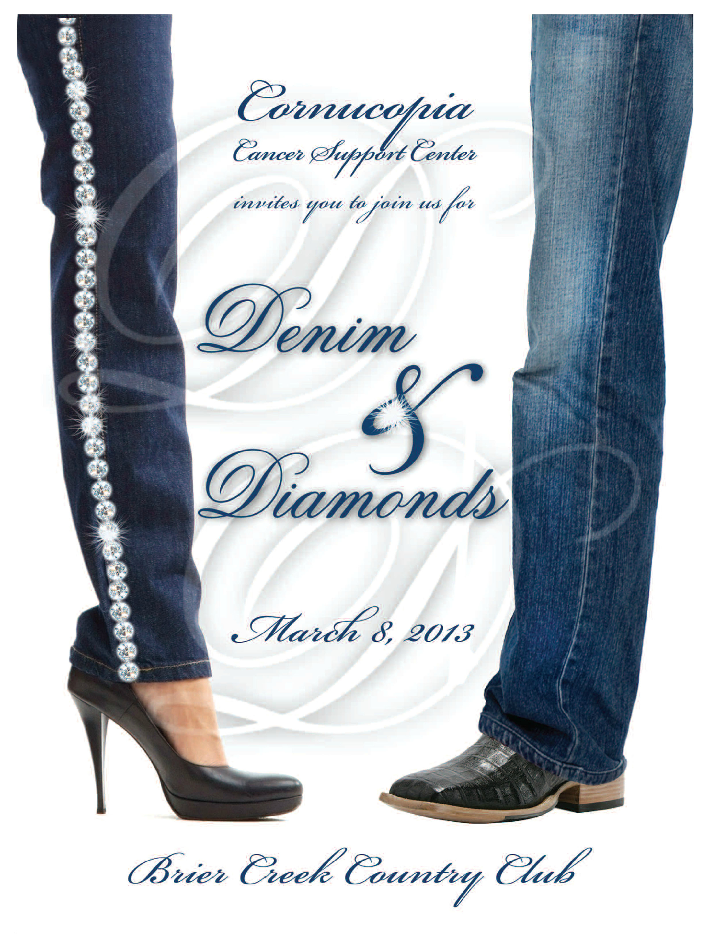 Denim diamonds party cake ideas and designs