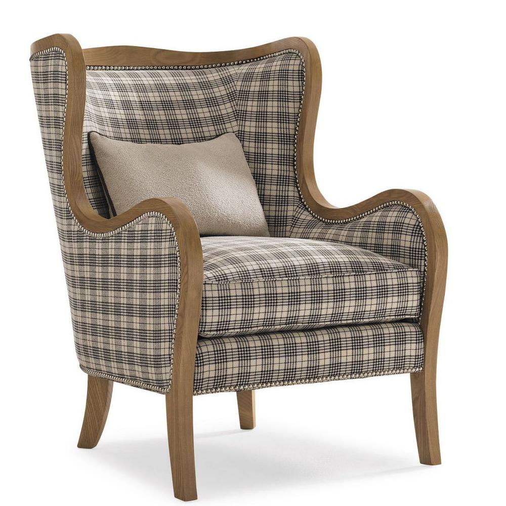 caracole equestrian wing-back chair