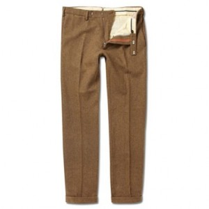 Men's Wool Flannel Trousers Sir Byron Laurent