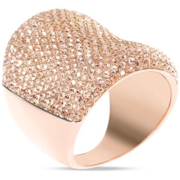 Michael Kors Concave Pave Ring, Rose Golden $125 Photo Credit: michaelkors.com