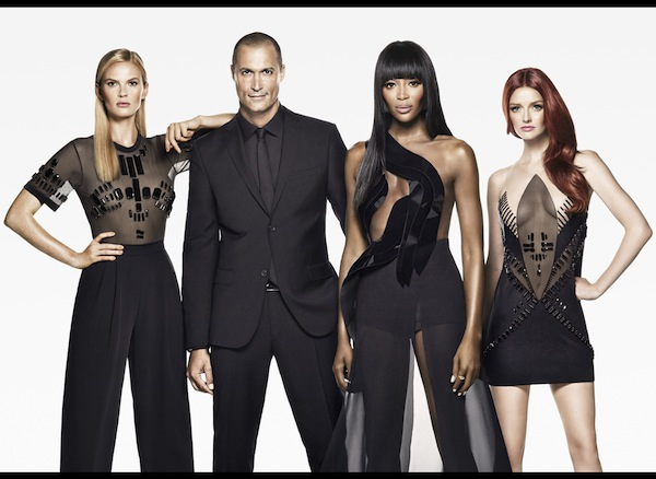 Pictured (left to right): Naomi Campbell, Lydia Hearst, Anne V.; Nigel Barker, host  (Photo by:Tom Munro/Oxygen)