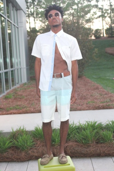 Mint Ombre Shorts- Jordano's Party Tee- Jordano's Short Sleeved Third & Army-Jordano's Accessories- Vintage Model: Devin