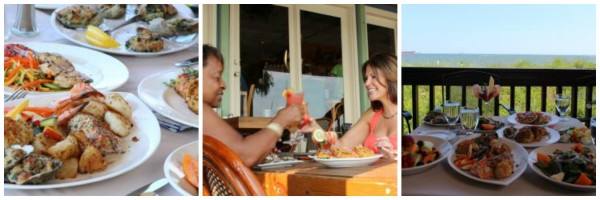 Enjoy friends and family while dining at local restaurants.