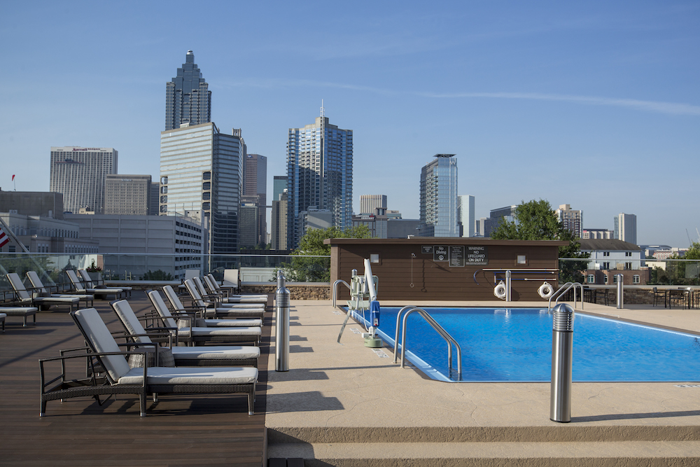 Crowne Plaza Atlanta Midtown – Pool Deck with Downtown View